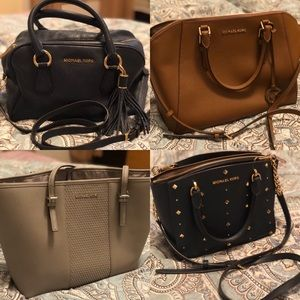 ALL 4 Michael Kors bags!!!! Used once
